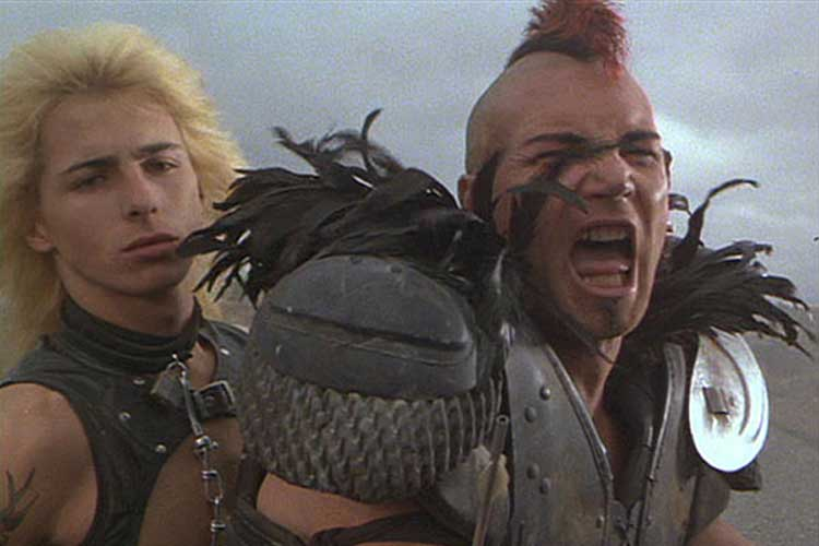The gangs are insane in George Miller's The Road Warrior.