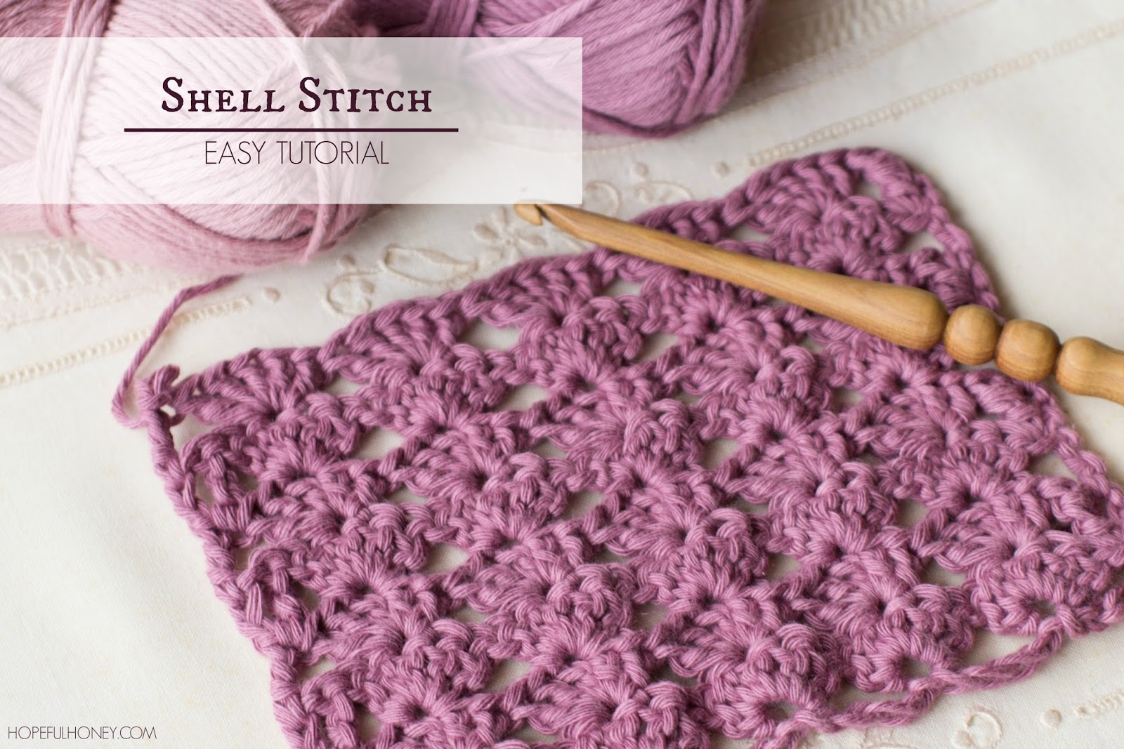 Crochet Stitches Learning : ... , Crochet, Create: How To: Crochet The Shell Stitch - Easy Tutorial