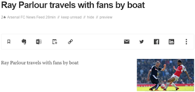 Ray Parlour travels with fans by boat