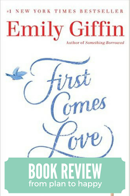 Emily Giffin's newest novel, First Comes Love, explores how the unexpected death of family can have long lasting repercussions.