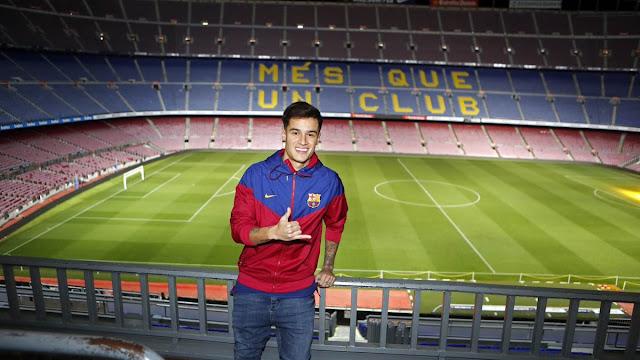 Barcelona perkenalkan Philippe Coutinho di Camp Nou