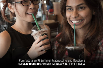 Free Starbucks Summer Frappuccino TALL Cold Brew Promo
