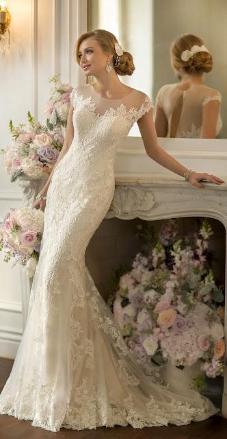 vestidos de novia sencillos con encaje
