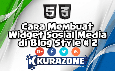 Cara Membuat Widget Sosial Media di Blog - Style #2