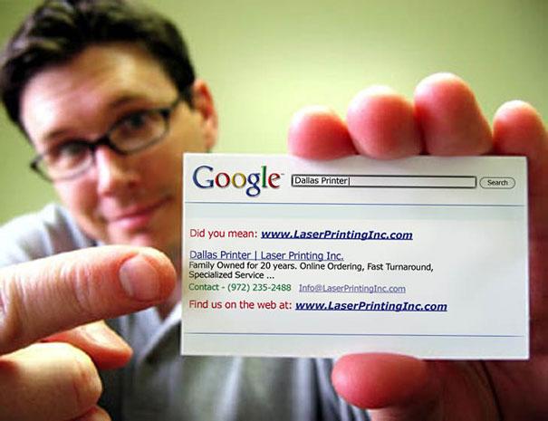 Cartão de Visita Criativo Google