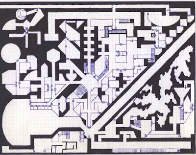 grodog's Heretical Temple of Wee Jas dungeon level map