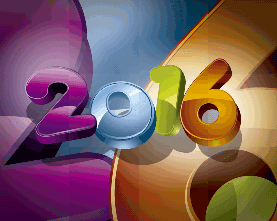 Colorido fondo 2016 en 3D