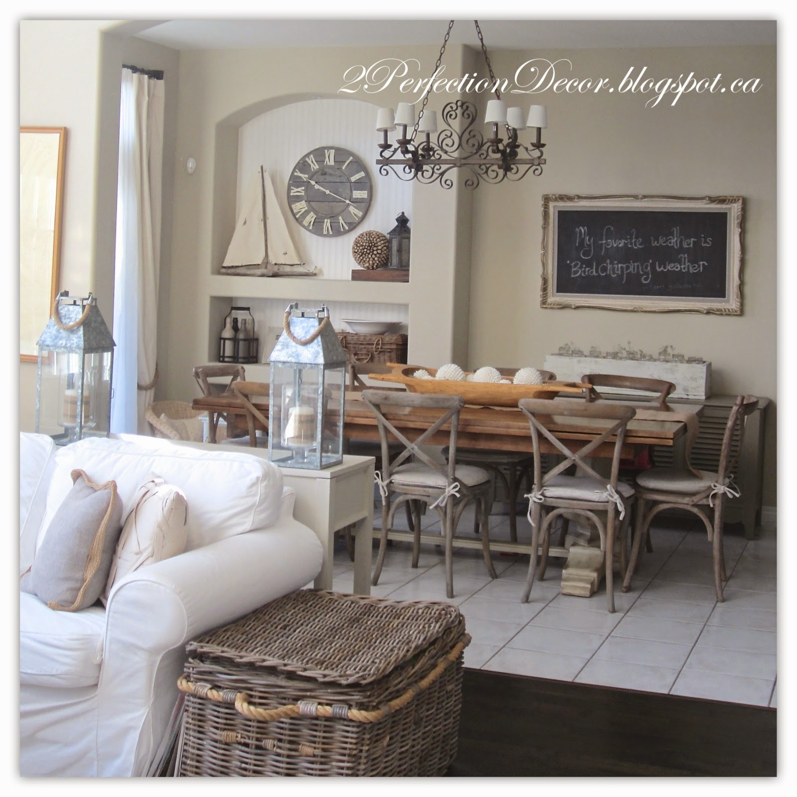 Adventures In Decorating Our 2015 Fall Kitchen: 2Perfection Decor: Kitchen Eating Area Decor