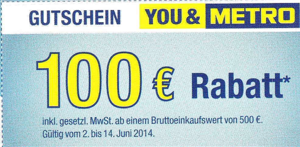 Holger Priske: Metro Rabattaktionen, eine Herausforderung
