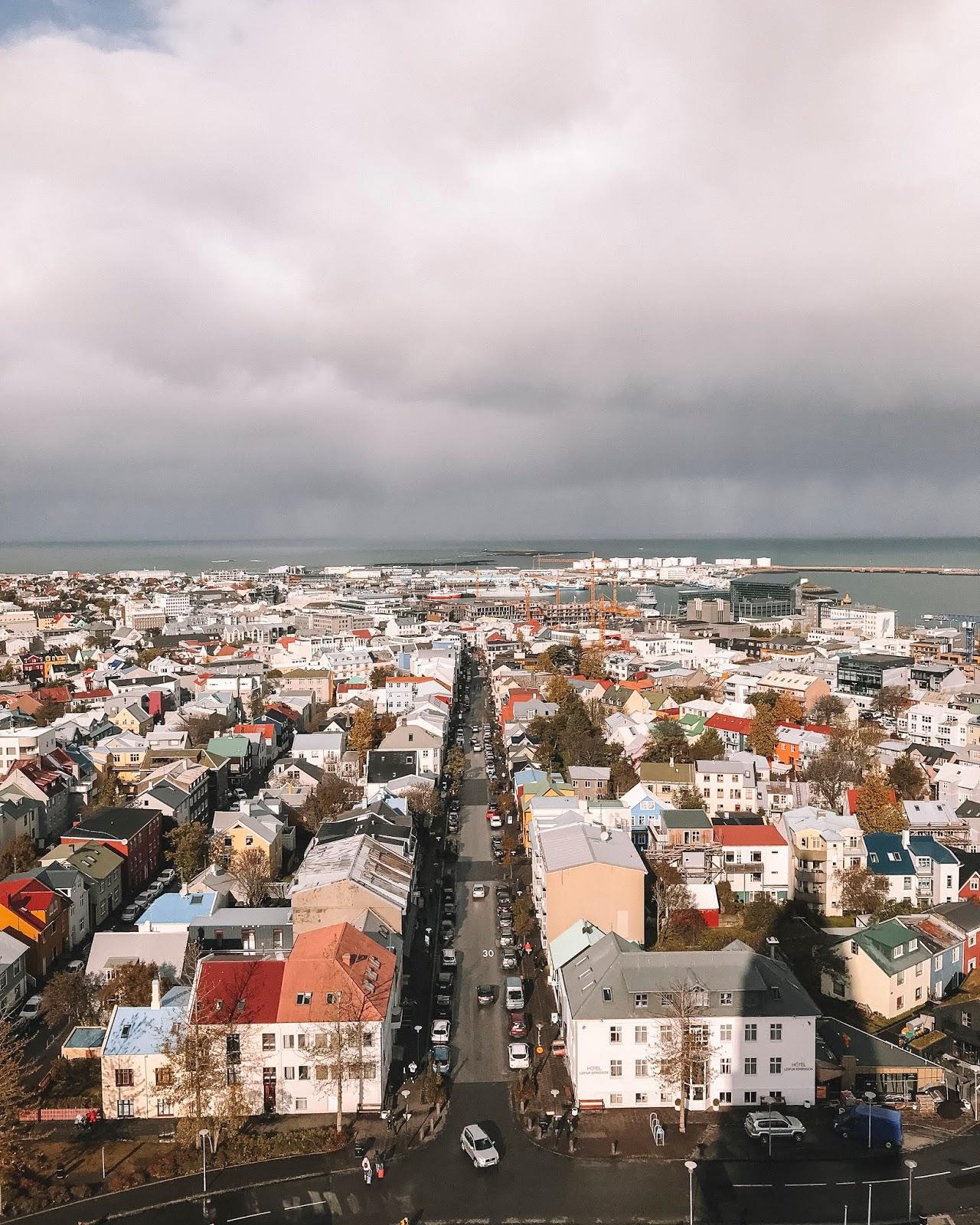Overlooking downtown Reykjavik
