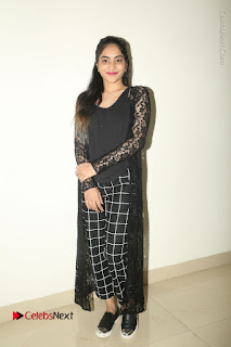 Actress Punarnavi Bhupalam Stills in Black Dress at Pittagoda Press Meet  0127.JPG