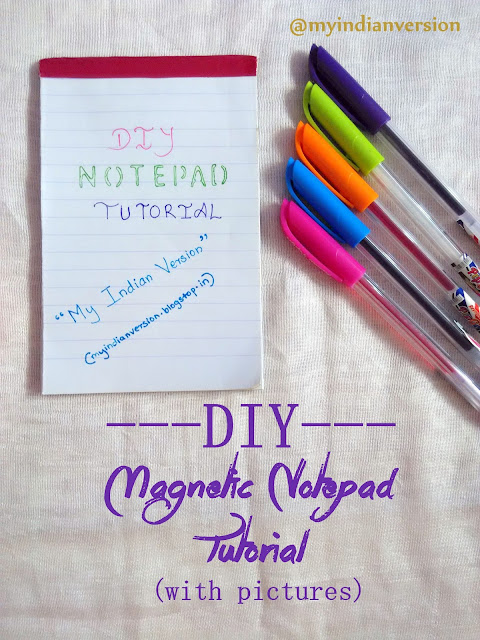 DIY Magnetic Notepad Tutorial
