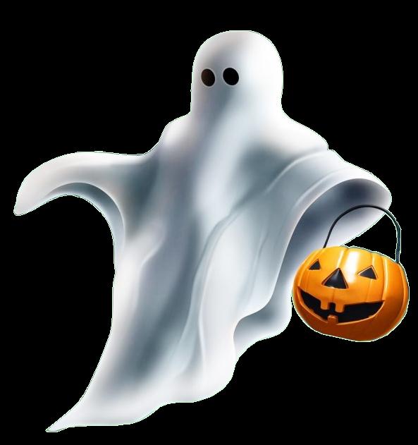 Fantasma con calabaza