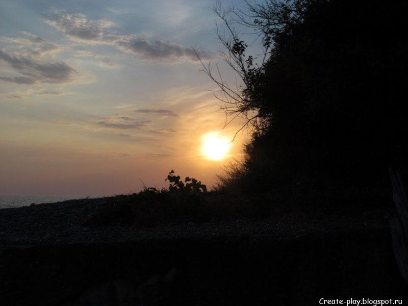 закат на море в Эшере Абхазия