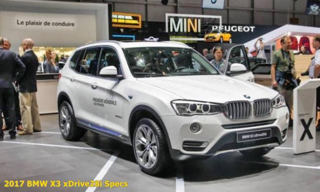 2017 BMW X3 xDrive28i Specs