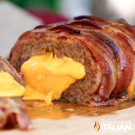 Stuffed Bacon Wrapped Meatloaf