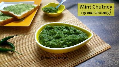 Mint Chutney / Pudina Chutney / Green Chutney