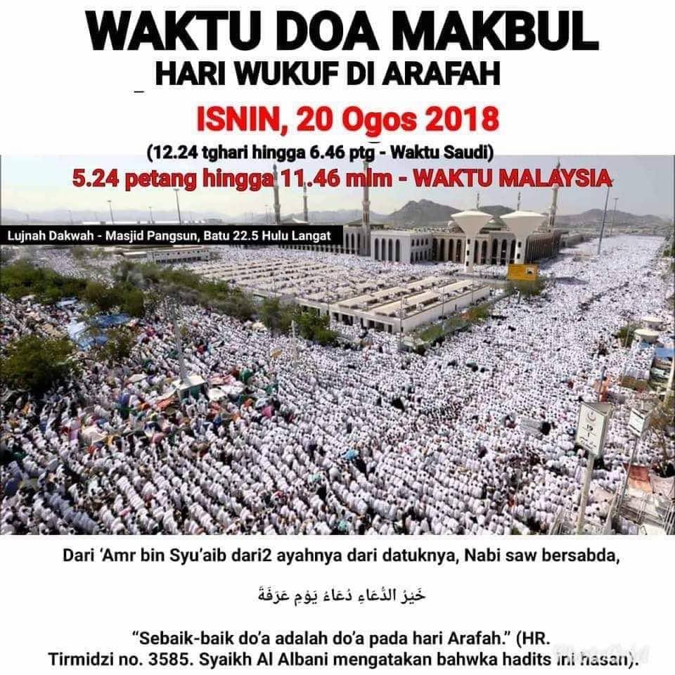 Doa pada Hari Arafah: Untuk Jemaah Haji Atau Semua?