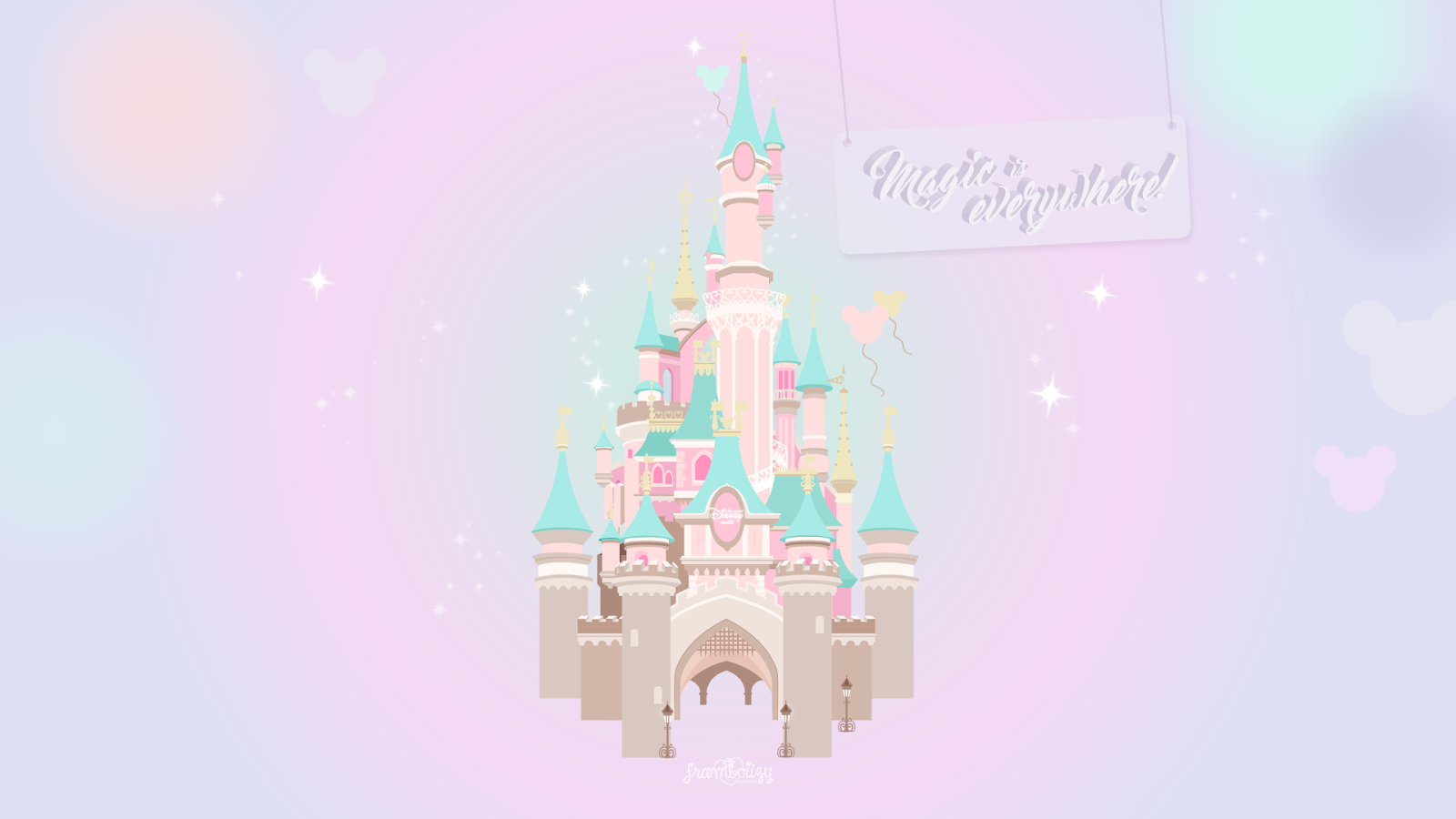 Wallpaper 04 La Magie Disney Goodies Framboiizy