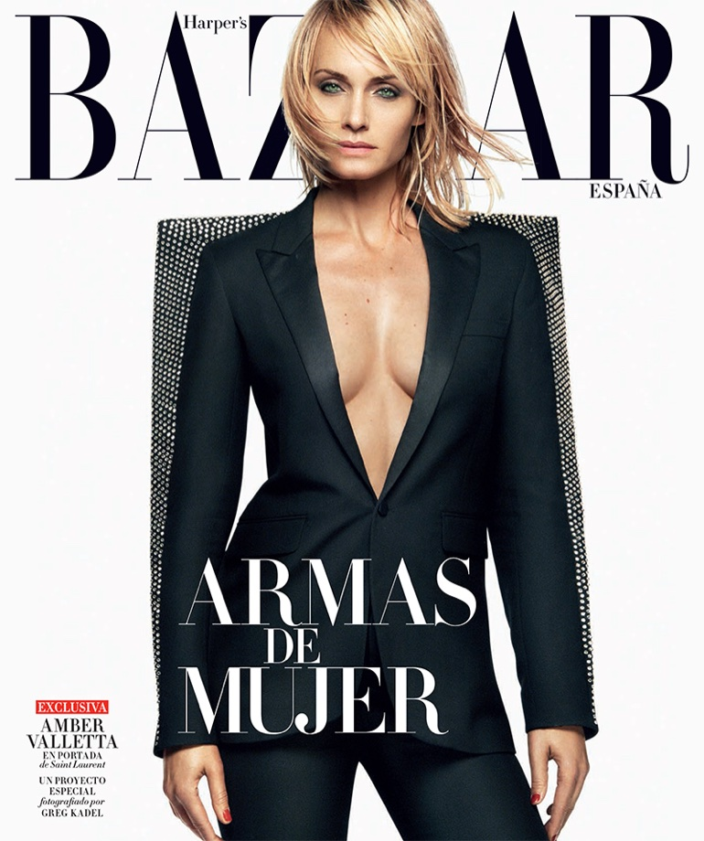 Amber Valletta wears Fall ensembles for Harper's Bazaar Spain October 2017