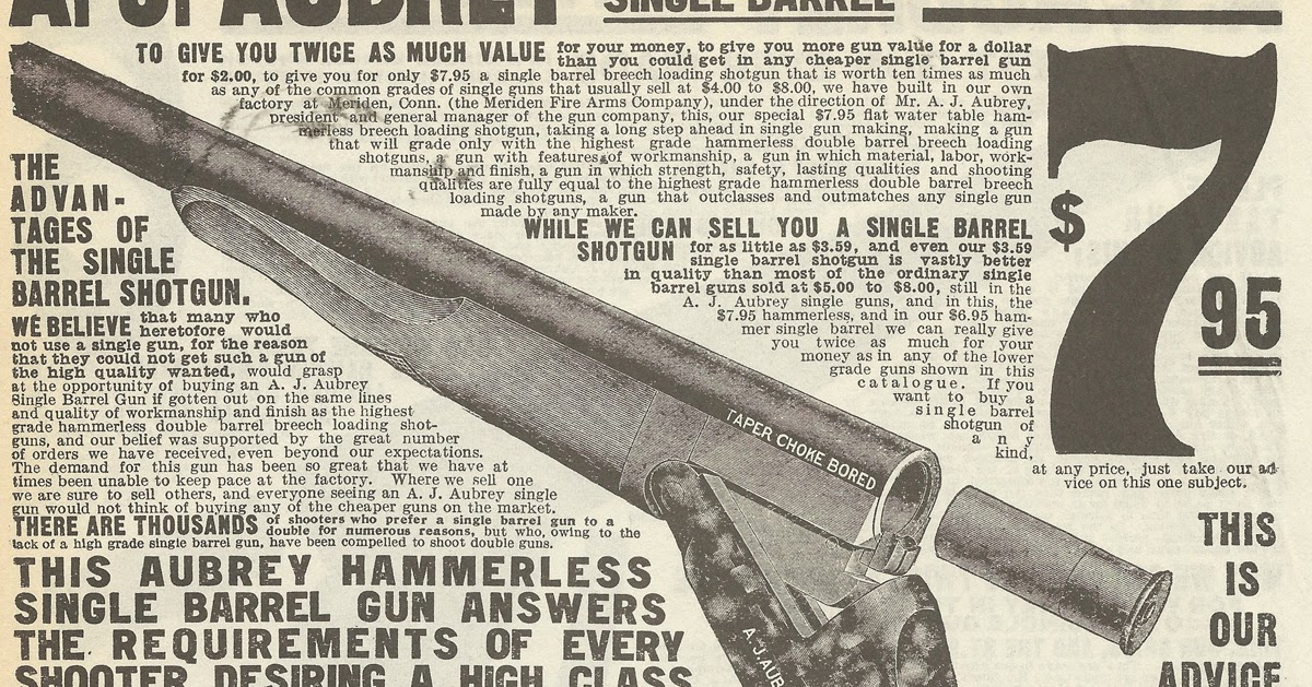 Old Ads Are Funny 1908 Sears Catalog Ad A J Aubrey