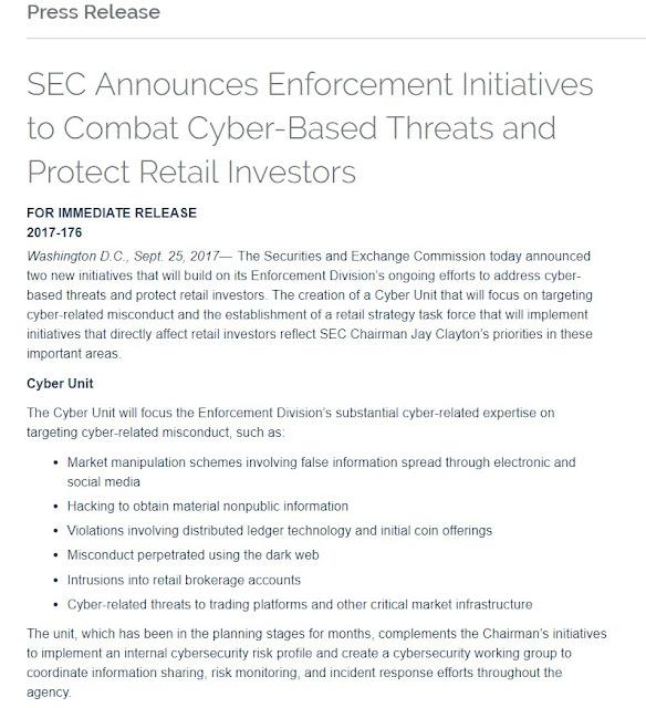 bitcoin news - sec announcement