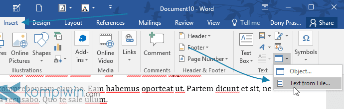 Cara Memasukkan Satu Dokumen Word Penuh ke Dokumen Word Lain tanpa Copy-Paste secara Manual 2