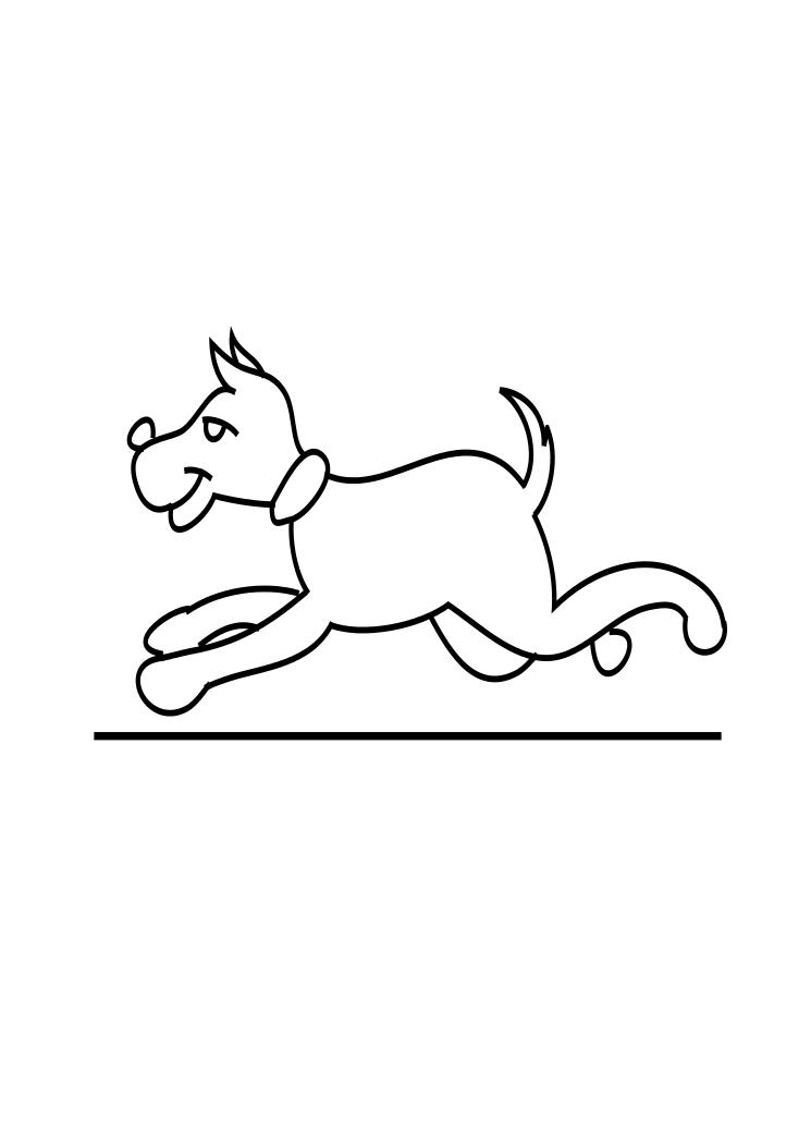 Dog Running Coloring Page ~ Child Coloring