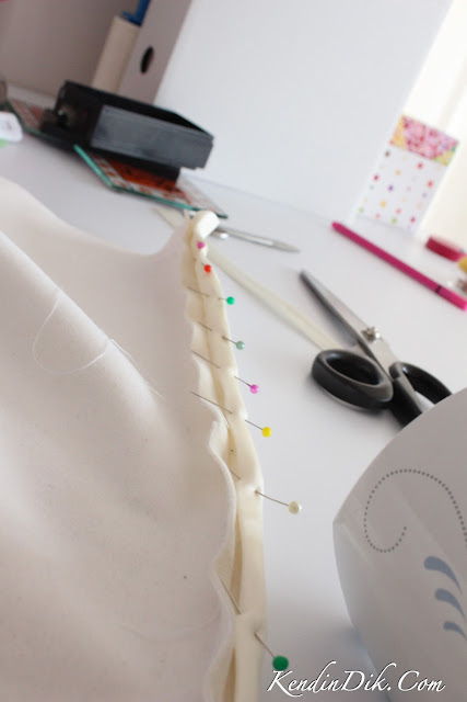dikiş detayları beyaz elbise