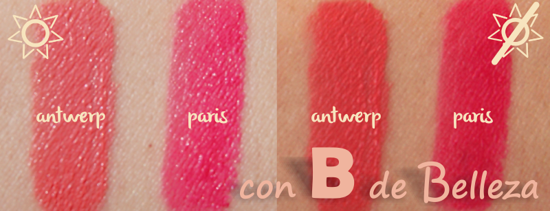 Swatches labiales Soft matte