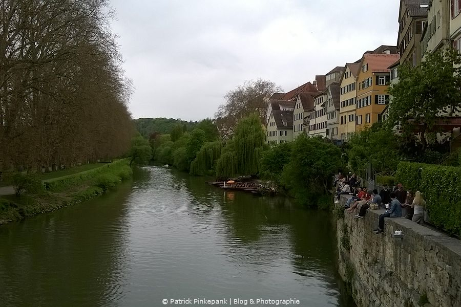 Neckarfront Tübingen - Auf der Eberhardsbrücke
