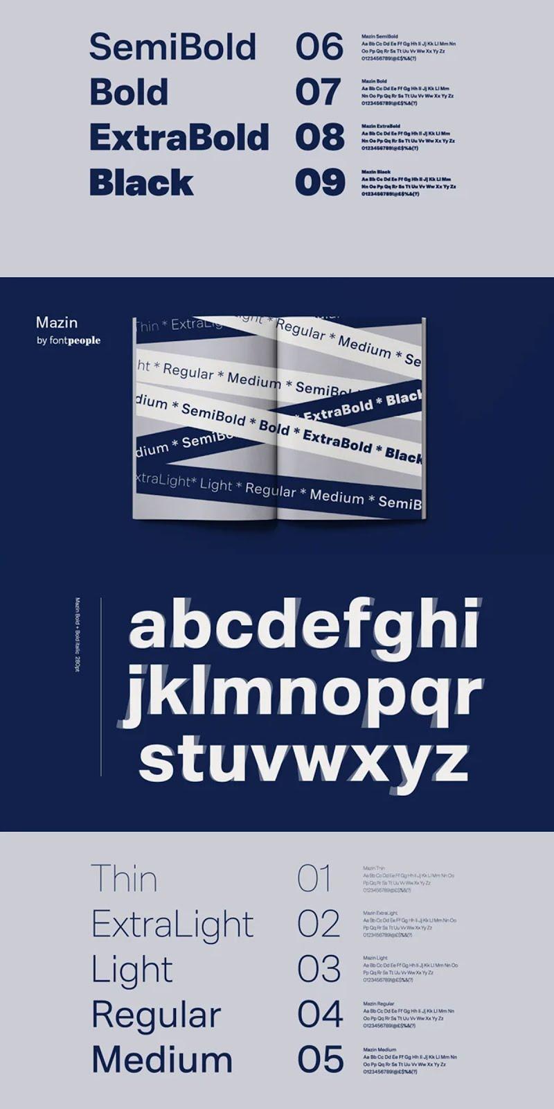 Mazin Font Family