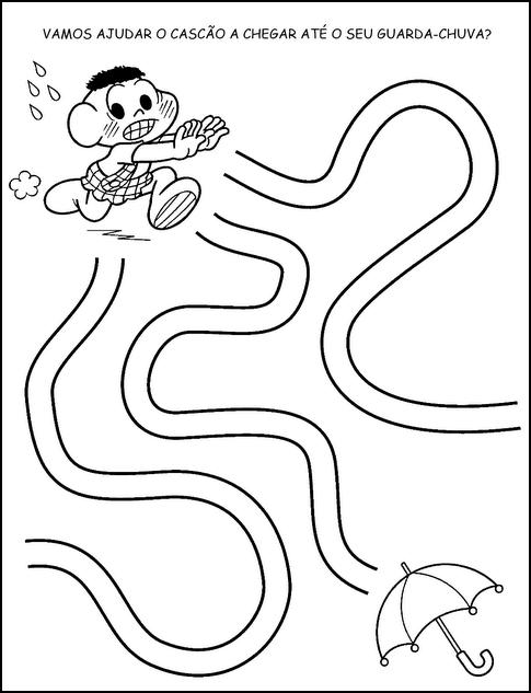 Resultado de imagem para atividade labirinto facil