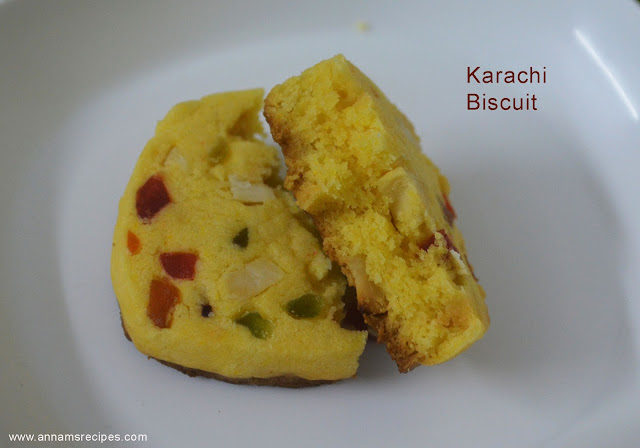 Eggless Tutti Frutti Cookies Recipe