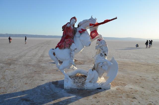 lago de sal na Tunísia