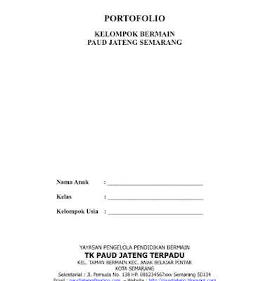 Contoh Portofolio PAUD Dalam Penilaian Evaluasi PAUD Lengkap Terbaru