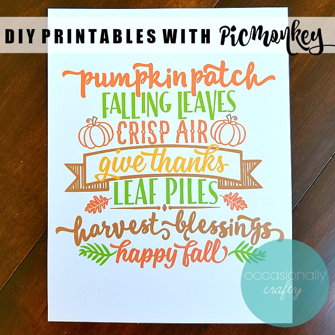 DIY Printables with Picmonkey