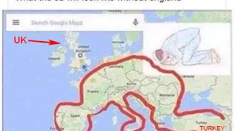 Peta Uni Eropa Tanpa Inggris Seperti Orang Sujud, Pertanda Terwujudnya Nubuwah Nabi?