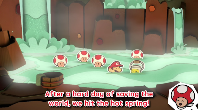 Paper Mario Color Splash Hot Spring Toads