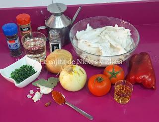 Ingredientes Callos de bacalao