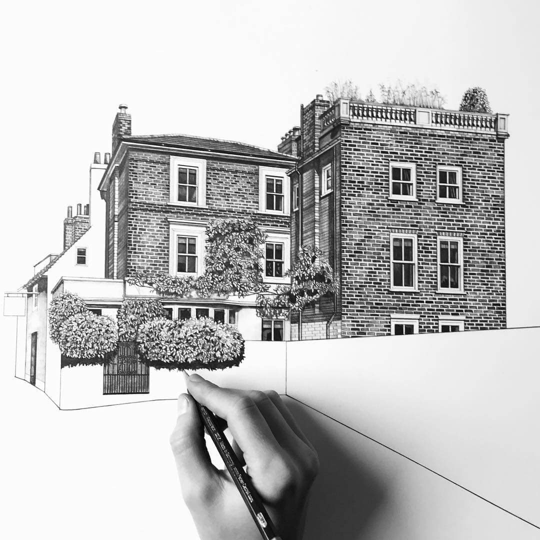 01-Brickwork-Finish-Minty-Sainsbury-Traditional-Architecture-Drawings-in-Pencil-www-designstack-co