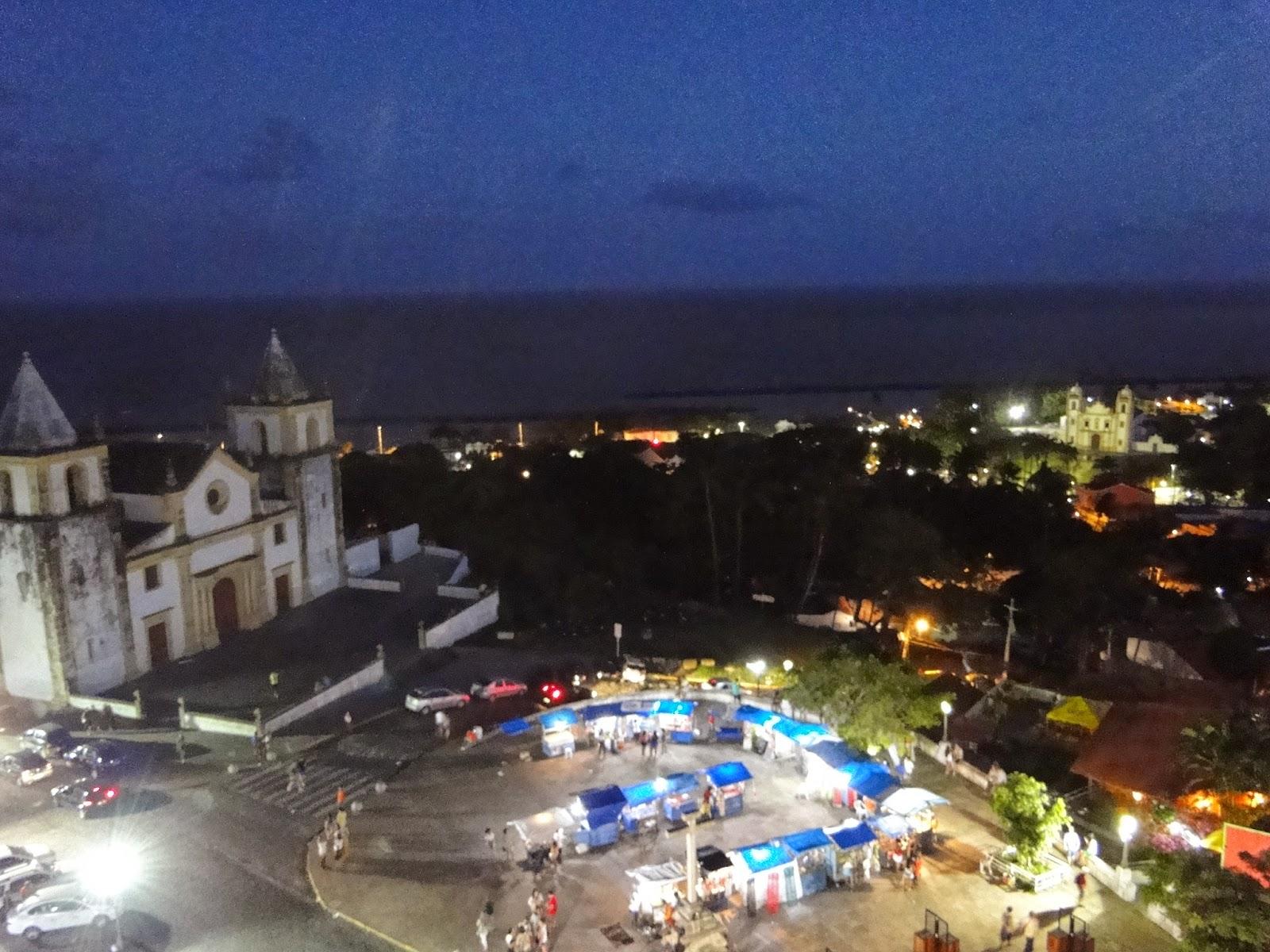 vista noturna de olinda