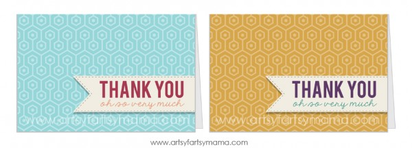 Free Printable Thank You Cards at artsyfartsymama.com