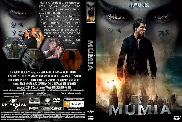 Capa DVD A Múmia 2017 [Exclusiva]