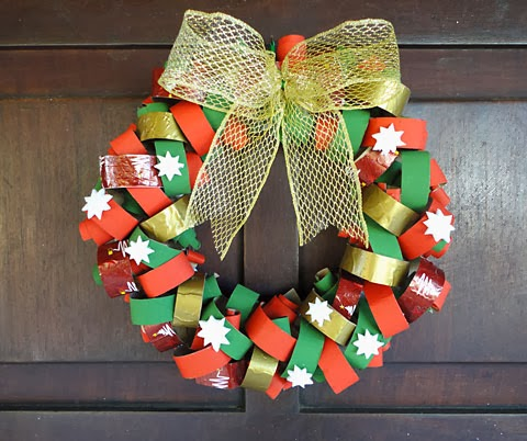 El Arte De Educar Como Hacer Corona De Navidades Con Rollos De - Manualidades-con-rollos-de-papel-higienico-para-navidad