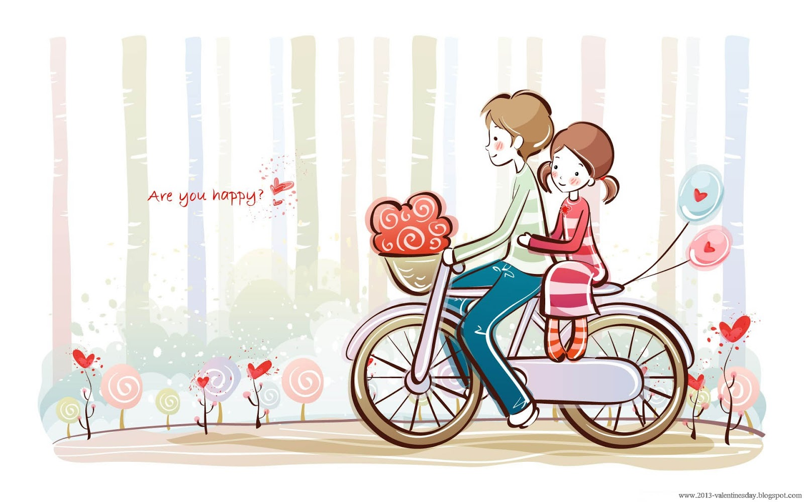 Cute Cartoon Couple Love Hd Wallpapers For Valentines Day Happy