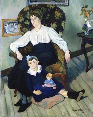 Suzanne Valadon - portrait de Marie Coca et de sa fille,1913