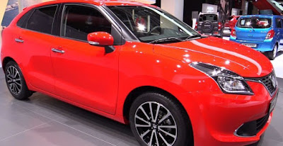 Baleno car images and pictures - red color