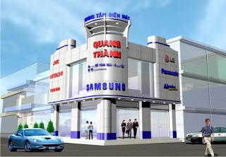 Thi công mặt dựng Alu cho trung tâm điện máy Quang Thành
