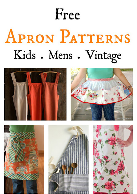 It\'s Sewn: 7 Free DIY Apron Sewing Patterns - Kids, Men, Vintage